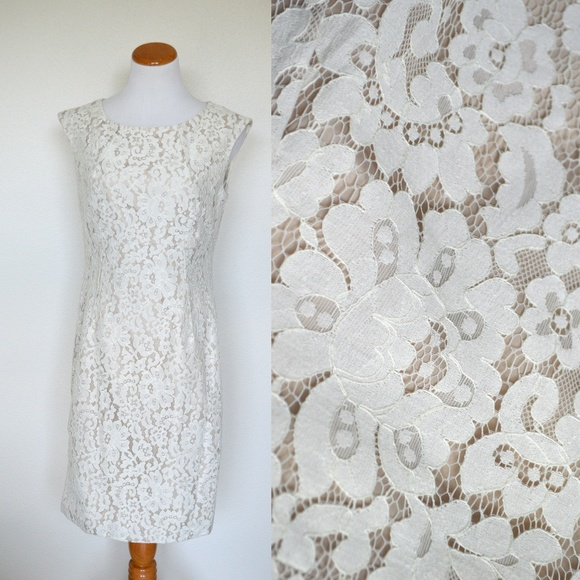 e5d3d2b36d2a Calvin Klein Lace Sheath Dress Career Wear